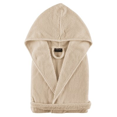Graccioza Childrens Bathrobe Size: Medium, Color: Natural