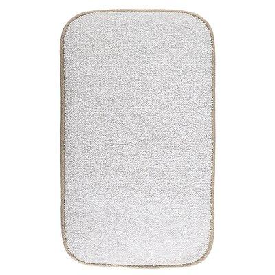 Graccioza Contour Bath Mat Size: 32 L x 20 W, Color: White Stone
