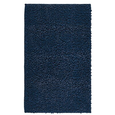 Graccioza Denim Twist Mat Size: 40 L x 24 W, Color: Navy