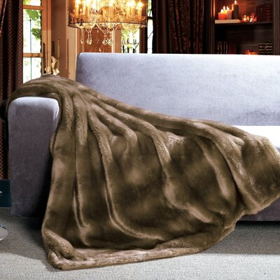 Mink Faux Fur Throw Mink