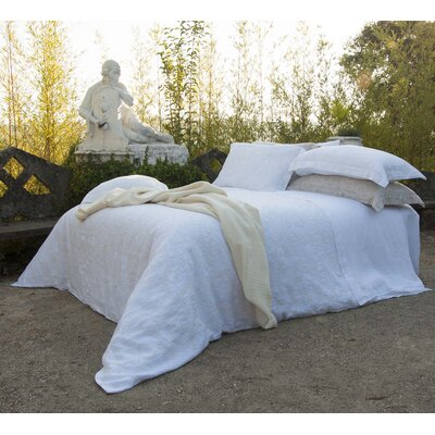 Coracao 100% Linen Sheet Set Size: King, Color: White
