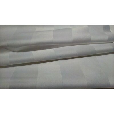 Crown Stripe 300 Thread Count 100% Cotton Sheet Set Size: Queen, Color: White