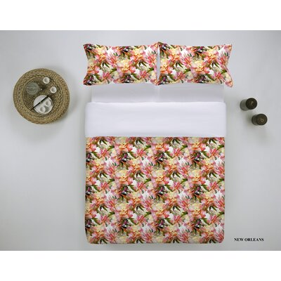 New Orleans 3 Piece Duvet Cover Set Size: Queen