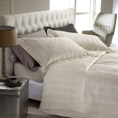 Mega Stripe 300 Thread Count 100% Cotton Sheet Set Size: King, Color: Ivory