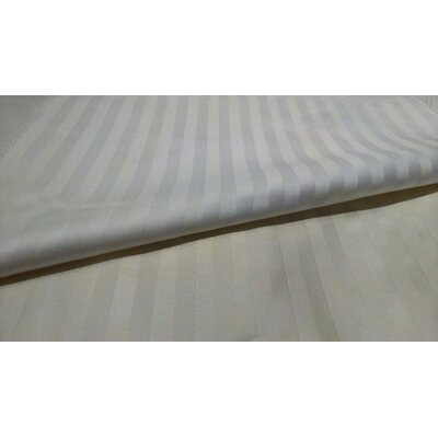 Royal Stripe 300 Thread Count 100% Cotton Sheet Set Size: Queen, Color: White