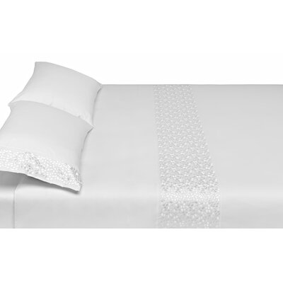 Pearl 3 Piece Reversible Duvet Cover Set Size: King, Color: White