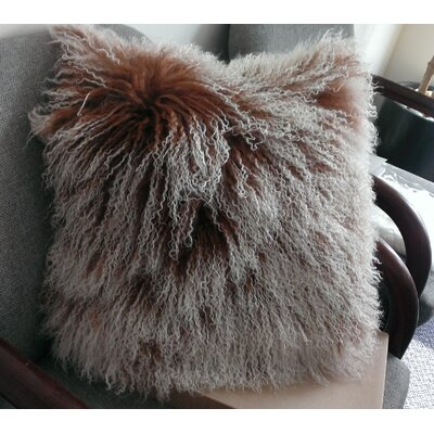 Mongolian Sheep Hair Throw Pillow