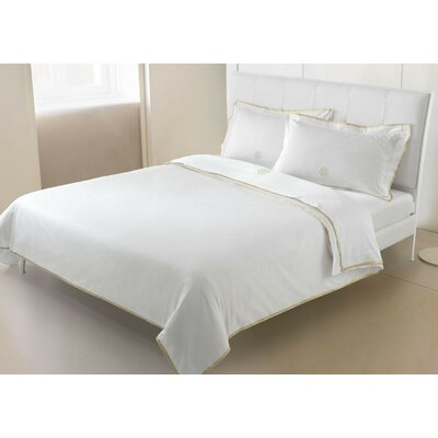 Roberto Cavalli Gold Sheet Set Size: Queen, Color: Ivory
