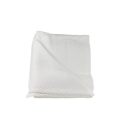 St. Pierre Home Fashions Charisma Cotton Blanket Size: King, Color: White