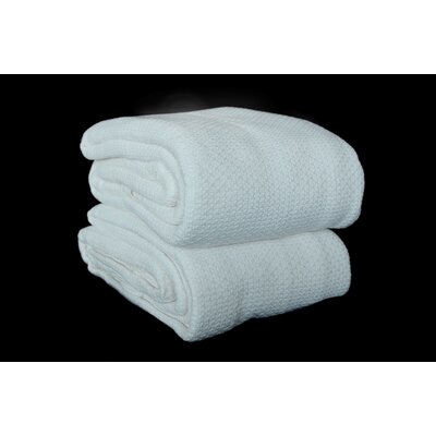 Makenzie Cotton Blanket Size: Queen, Color: White