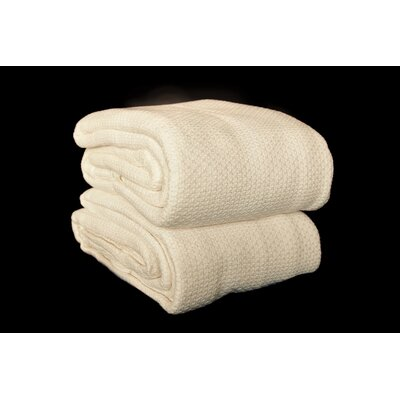 Makenzie Cotton Blanket Color: Ivory, Size: King
