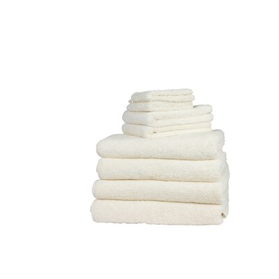 Graccioza Long Double Loop 6 Piece Towel Set Color: Natural