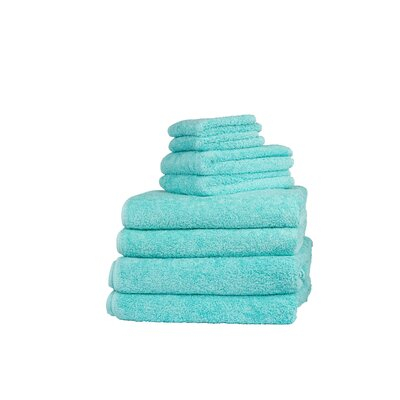 Graccioza Long Double Loop 6 Piece Towel Set Color: Aruba