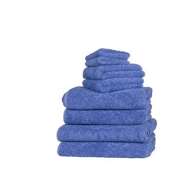 Graccioza Long Double Loop 6 Piece Towel Set Color: Sky