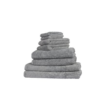 Graccioza Long Double Loop 6 Piece Towel Set Color: Anthracite