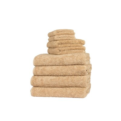 Graccioza Long Double Loop 6 Piece Towel Set Color: Savannah