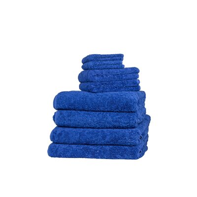 Graccioza Long Double Loop 6 Piece Towel Set Color: Ultramarine