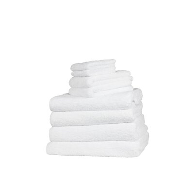 Munson Long Double Loop 6 Piece Towel Set Color: White