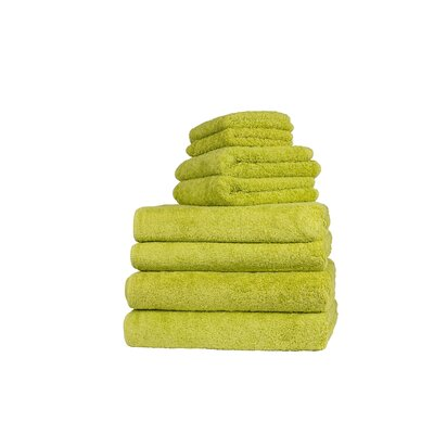 Graccioza Long Double Loop 6 Piece Towel Set Color: Jungle