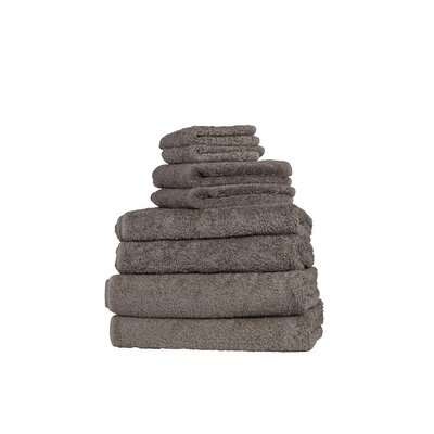 Munson Long Double Loop 6 Piece Towel Set Color: Dark Anthracite