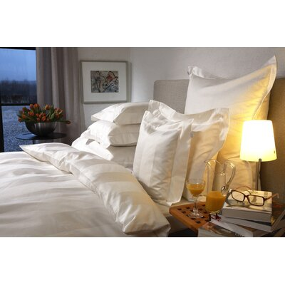 Mega Stripe 300 Thread Count 100% Cotton Sheet Set Size: King, Color: White