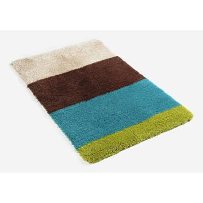 Graccioza Bath Rug Color: Blue