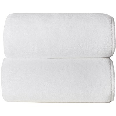 Hizer Sponge 6 Piece Towel Set Color: White