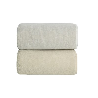 Graciozza Bio Luxury Linen Duo 6 Piece Bath Towel Set Color: Natural