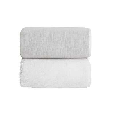 Graciozza Bio Luxury Linen Duo Bath Sheet Color: White