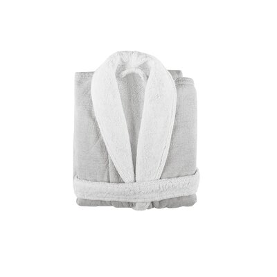 Graciozza Bio Luxury Linen Duo Bathrobe Size: Small, Color: White
