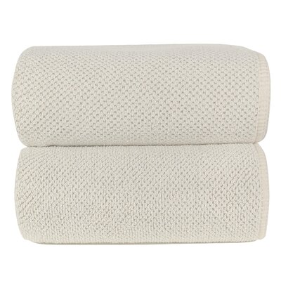 Graccioza Bio Luxury Linen Waffle Bath Sheet Color: Natural