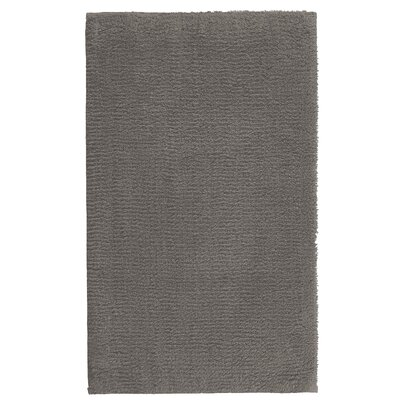 Fortney Rayon from Bamboo Cloud Bath Rug Color: Dark Anthracite, Size: 24 W x 40 L
