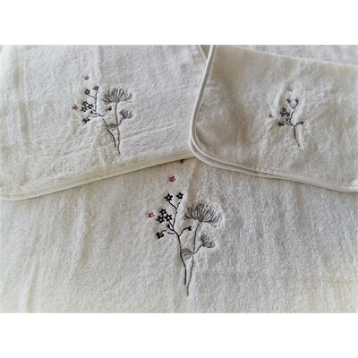 Jeremie Flowers Embellished Hand Towel