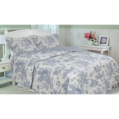 Cotton 3 Piece Quilt Set Size: Queen