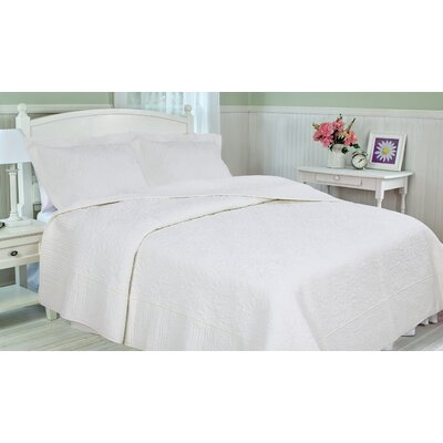 Cotton 3 Piece Quilt Set Size: King
