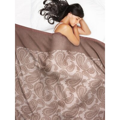 Marzotto Rialto Paisley Wool Blanket Color: Light Taupe