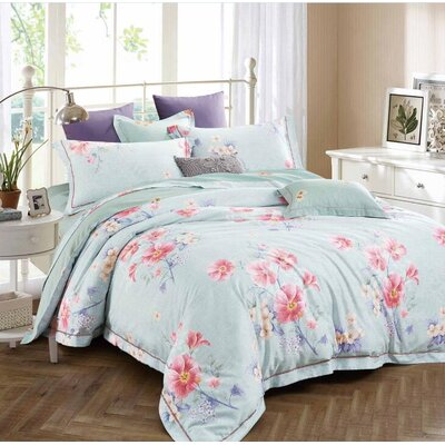 Judy 3 Piece Reversible Duvet Set Size: King