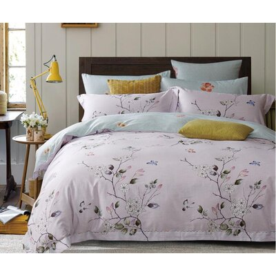 Beaucaire 3 Piece Reversible Duvet Set Size: Queen