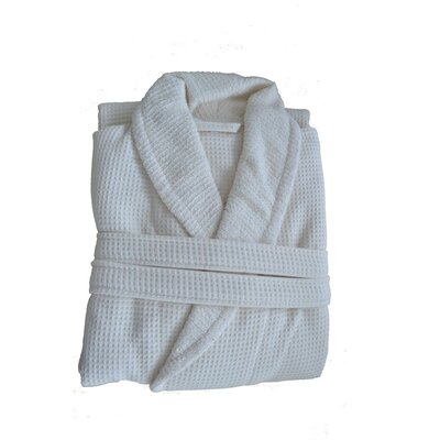 Waffle Terry Robe Size: Small / Medium, Color: Natural