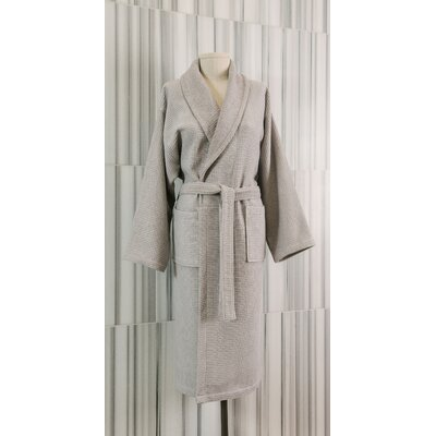Waffle Terry Robe Size: Small / Medium, Color: Grey