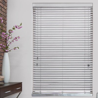 2 Blanc Faux Wood Blind Width: 27, Length: 48