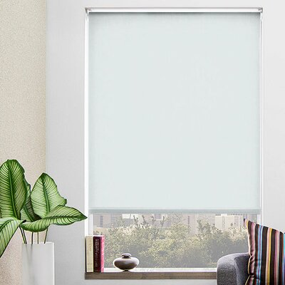 Grey Blackout Roller Shade Width: 30, Length: 48
