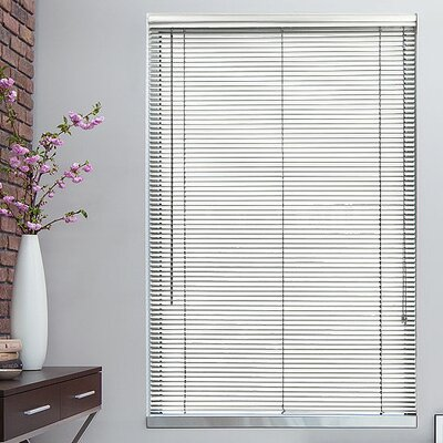 "Image of 1"" Cream Metal Blinds Width: 23"", Length: 64"""
