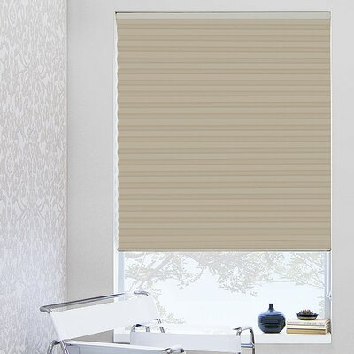 1 Beige Pleated Shade Width: 35, Length: 64