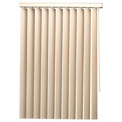 Vinyl Vertical Blind Blind Size: 84 W x 110 L, Color: Alabaster