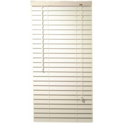 Faux Wood Mini Blind Size: 24 W x 60 L