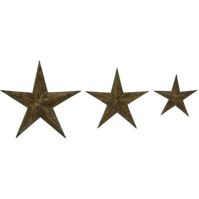 3 Piece Metal Star Wall Décor Set