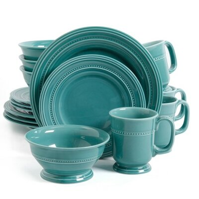 ABCHomeCollection Gibson Elite 16 Piece Dinnerware Set, Service for 4