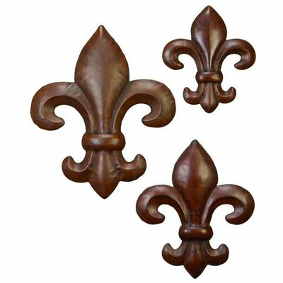 3 Piece Fleur De Lis Wall Decor Set