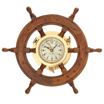 20 Classic Wooden Ship wheel Wall Clock